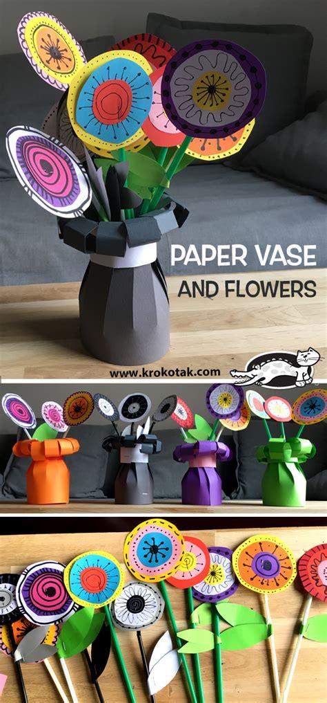 krokotak paper vase  flowers