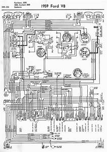 Wiring Diagrams Of 1959 Ford V8 Fairlane  500  300  Custom 300  And Galaxie  U2013 Auto