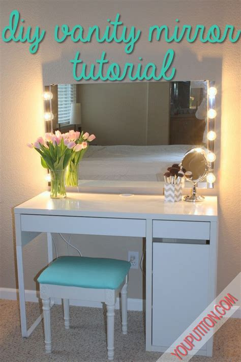 Diy Vanity Table With Mirror by Best 25 Diy Vanity Mirror Ideas On Diy Makeup