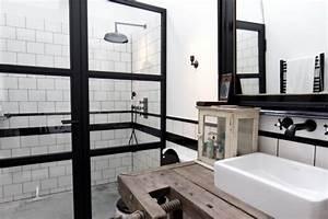 Salle De Bain Style Industriel : salle de bains style industriel ~ Dailycaller-alerts.com Idées de Décoration