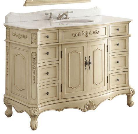 shabby chic bathroom vanity cabinets 42 quot traditional style fairmont bathroom sink vanity