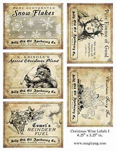 antique christmas potion wine labels 425 x 325 digital With free wine labels to print