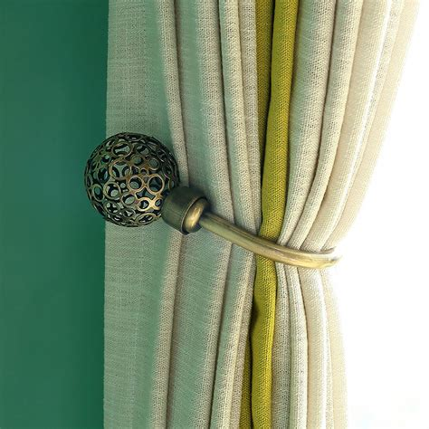 metal tie backs for drapes funky metal hollow u type curtain tie backs
