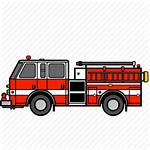 Fire Truck Icon Icons Rescue Engine Ladder