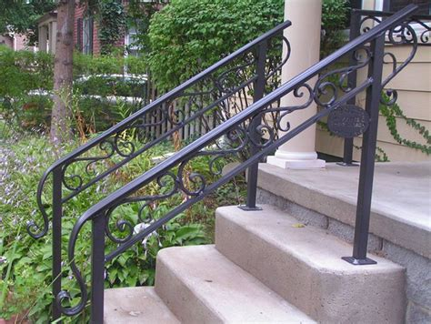 Wrought Iron Outdoor Hand Railings With Columns