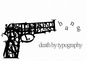 typography With gun letter art