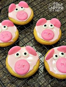 Peppa Pig Party Ideas With Decorated Pig Cookies