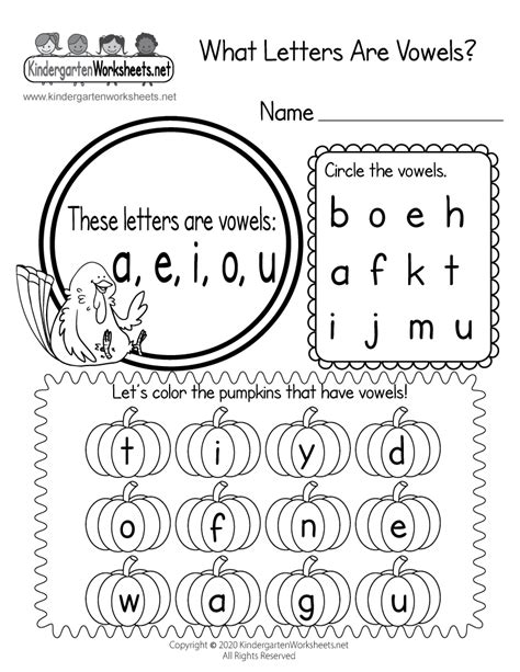 letters  vowels worksheet thanksgiving vowel