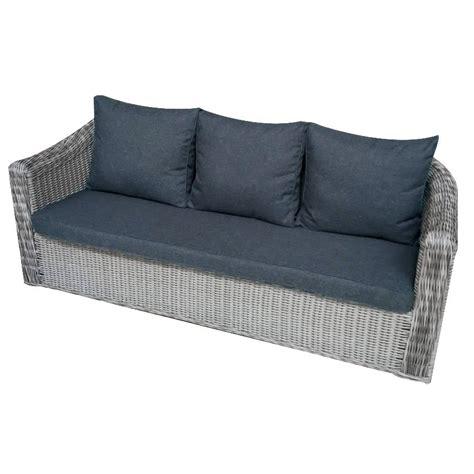 Canape Detente - canapé de jardin 3 places giglio gris gris anthracite