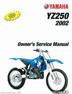 2002 Yamaha Yz250 Motorcycle Owners Service Manual   Lit