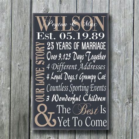 Personalized 5th 15th 25th 50th Anniversary Gift, Wedding Engagement Wife Husband Parents Gift, Our Love Story, The Best Is Yet To Come