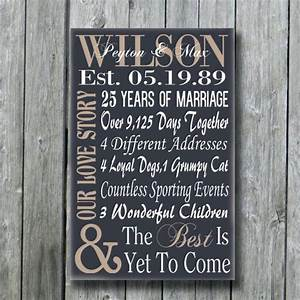 personalized 5th 15th 25th 50th anniversary giftwedding With 25th wedding anniversary gift ideas for husband