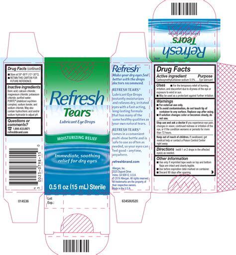 REFRESH TEARS (solution/ drops) Allergan, Inc.