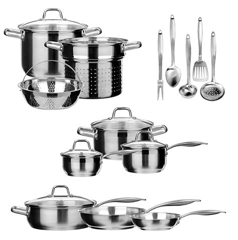 duxtop stainless cookware steel induction ssib bonded impact technology pieces pentole acciaio inox pans migliori professional pots sets guide marche