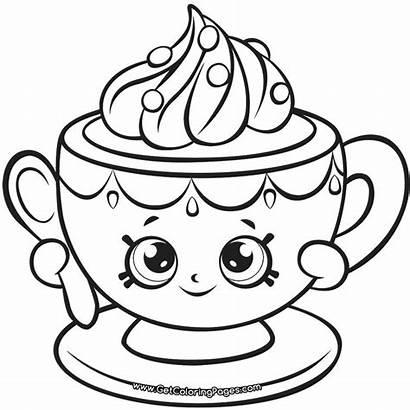 Shopkins Coloring Teacup Tiny Season Shopkin Colorear