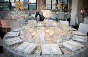 silver wedding white silver centerpieces