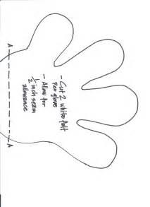Mickey Mouse Hand Template Printable