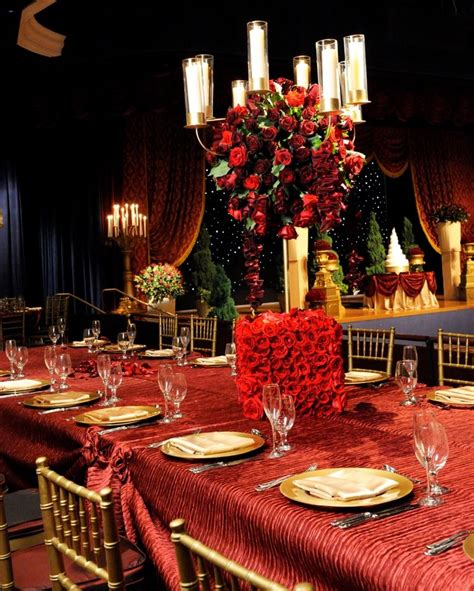 Beauty and the Beast inspired wedding reception #red #