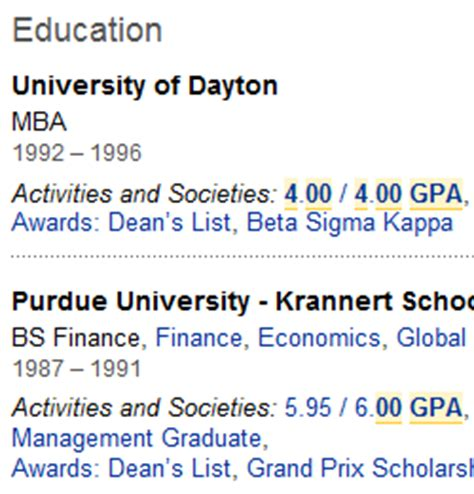 how to search for top students and gpa s on linkedin