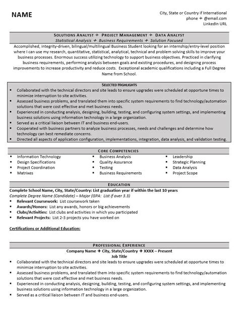 Resume Writing Programs by Graduate School Resume Exle 1 Zipjob