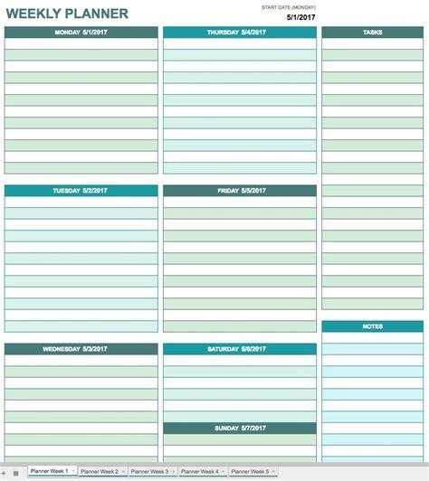 weekly schedule template google docs printable schedule
