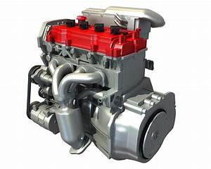 4 Cylinder Engine  U2013 3d Horse