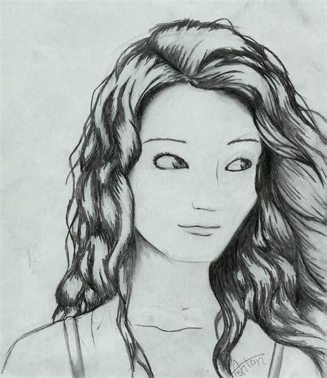 Girl Hair Drawing Anime Girl Drawing Black Hair How To Draw Curly Anime Hair