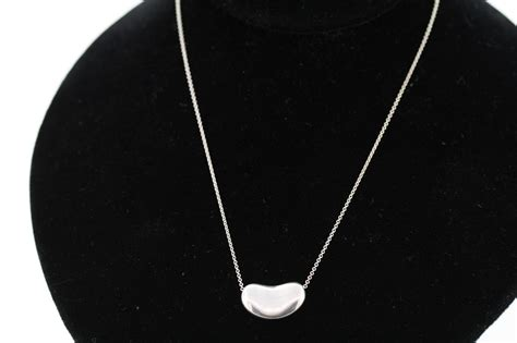 tiffany  sterling silver xmm large bean pendant