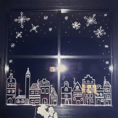 Fenster Schmücken Weihnachten by Weihnachten Kreidestift Kreide Chalkboard