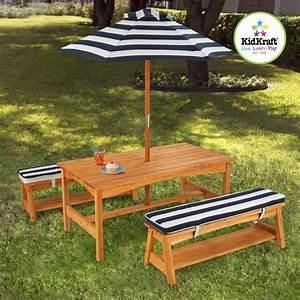 Table Et Banc De Jardin : kidkraft ensemble table et banc de jardin avec coussins et ~ Melissatoandfro.com Idées de Décoration