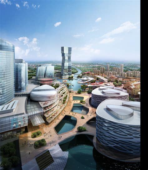 Futuristic City with River 809 3D Models 3D model MAX