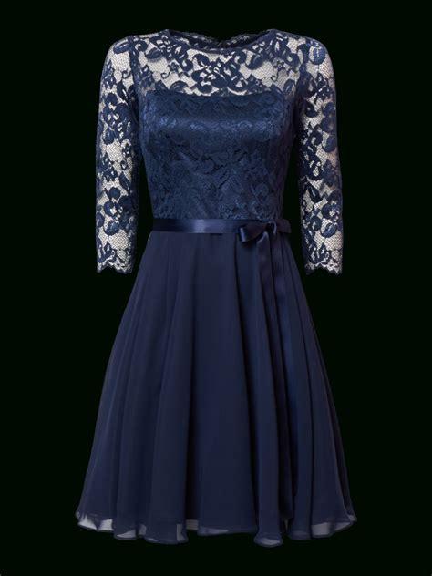 designer top kleid spitze dunkelblau design abendkleid
