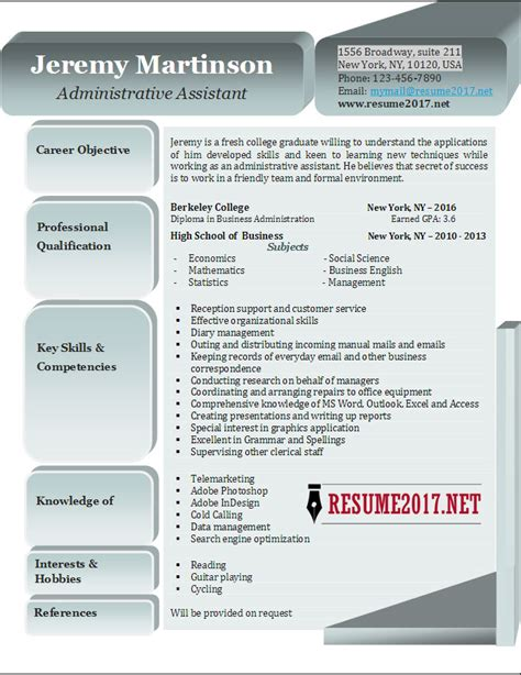 Administrative Resume 2017 by Administrative Assistant Resume Exles 2017