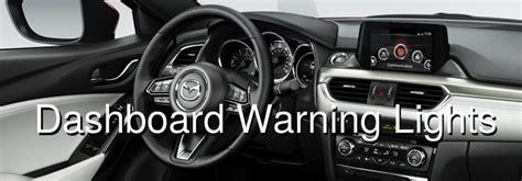 list  mazda dashboard warning lights