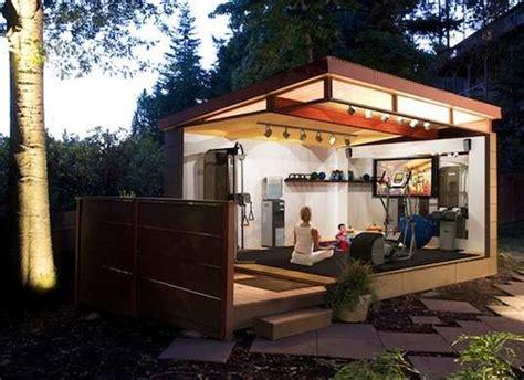 tiny backyard buildings  work  play backyard