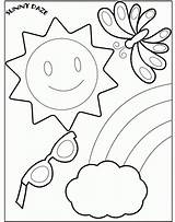 Coloring Preschool Summer Pages Comments sketch template