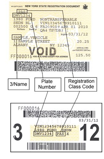 sample registration documents  york state dmv