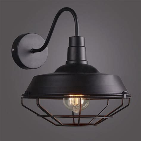 vintage goose neck barn sconce wall mounted cage l e27 light lighting fixture 607841453202 ebay