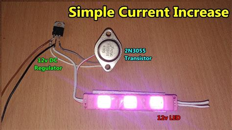 increase output dc current   transistor youtube
