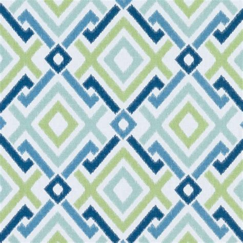 navy blue geometric upholstery drapery fabric by the yard