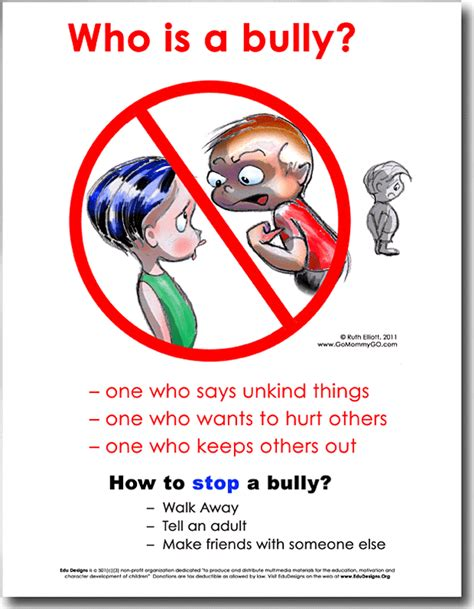 How To Stop A Bully  Edu Designs For Heart & Mind