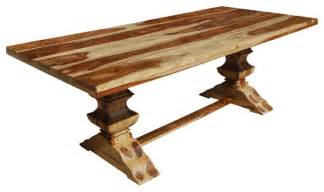 4 Leg Pedestal Sink by Dallas Double Pedestal Trestle Solid Wood Dining Table
