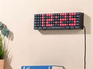 Led Uhr Wand : lunartec digitale wanduhr jumbo led wand tischuhr im tastatur design weck funktion standuhr ~ Whattoseeinmadrid.com Haus und Dekorationen