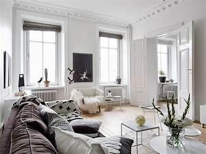 Wohnzimmer Scandi Style : scandinavian interior style a spacious flat in goteborg ~ Frokenaadalensverden.com Haus und Dekorationen