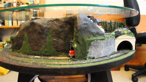 annular coffee table model train layout youtube