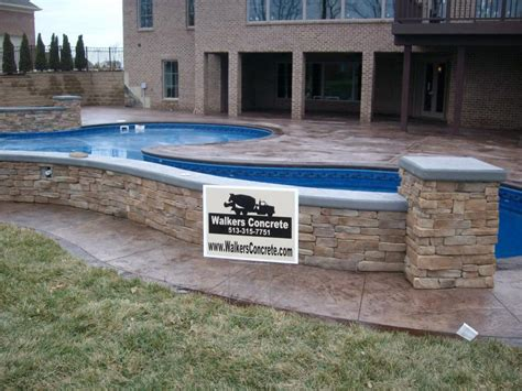 patios and decks for small backyards walkers concrete llc sted concrete patio sted