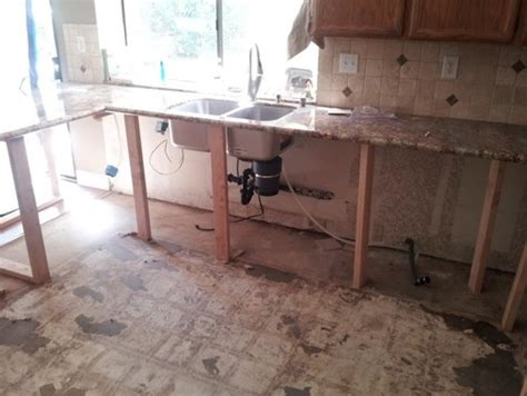 replacing kitchen floor without removing cabinets replacing cabinets while leaving granite