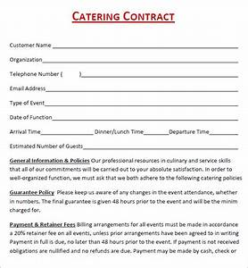 Catering contract 7 free pdf download for Catering contracts templates