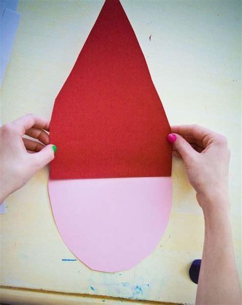 weihnachtsmann basteln vorlagen weihnachtsmann aus papier mit kindern basteln dekoking