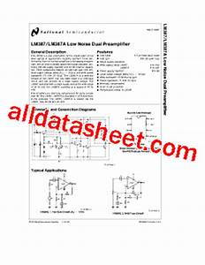 lm387 datasheetpdf national semiconductor ti With upc1032h circuit